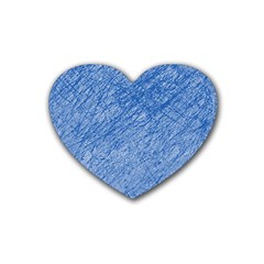 Blue Pattern Heart Coaster (4 Pack)  by Valentinaart