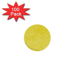 Yellow Pattern 1  Mini Buttons (100 Pack)  by Valentinaart