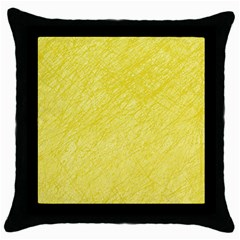 Yellow Pattern Throw Pillow Case (black) by Valentinaart