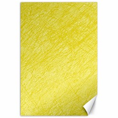 Yellow Pattern Canvas 20  X 30   by Valentinaart