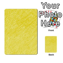 Yellow Pattern Multi Purpose Cards (rectangle)  by Valentinaart