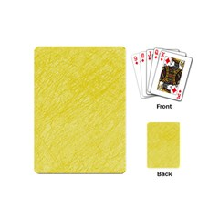 Yellow Pattern Playing Cards (mini)  by Valentinaart