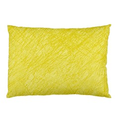 Yellow Pattern Pillow Case (two Sides) by Valentinaart