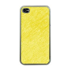 Yellow Pattern Apple Iphone 4 Case (clear) by Valentinaart