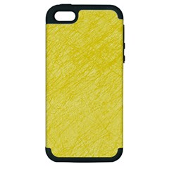 Yellow Pattern Apple Iphone 5 Hardshell Case (pc+silicone) by Valentinaart