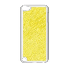 Yellow Pattern Apple Ipod Touch 5 Case (white) by Valentinaart