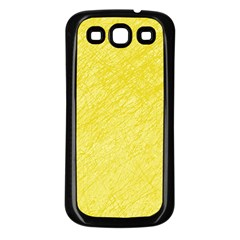 Yellow Pattern Samsung Galaxy S3 Back Case (black) by Valentinaart