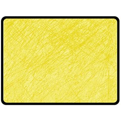 Yellow Pattern Double Sided Fleece Blanket (large)  by Valentinaart