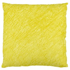Yellow Pattern Large Flano Cushion Case (two Sides) by Valentinaart
