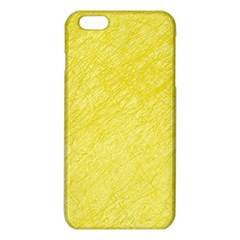 Yellow Pattern Iphone 6 Plus/6s Plus Tpu Case by Valentinaart
