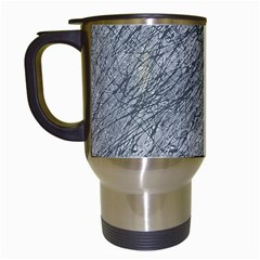 Gray Pattern Travel Mugs (white) by Valentinaart