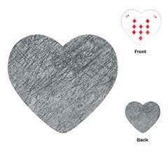 Gray Pattern Playing Cards (heart)  by Valentinaart