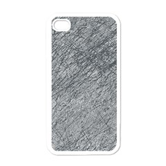 Gray Pattern Apple Iphone 4 Case (white) by Valentinaart