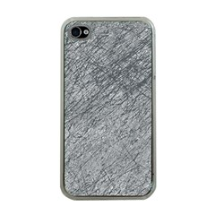 Gray Pattern Apple Iphone 4 Case (clear) by Valentinaart