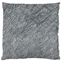 Gray Pattern Large Cushion Case (one Side) by Valentinaart