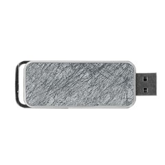 Gray Pattern Portable Usb Flash (two Sides) by Valentinaart