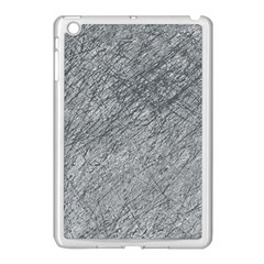 Gray Pattern Apple Ipad Mini Case (white) by Valentinaart