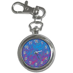 Blue Pattern Key Chain Watches by Valentinaart