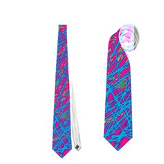 Blue Pattern Neckties (two Side)