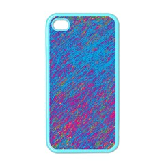 Blue Pattern Apple Iphone 4 Case (color) by Valentinaart