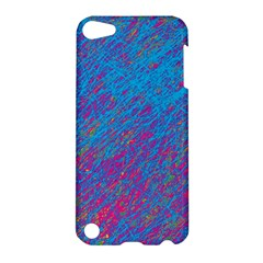 Blue Pattern Apple Ipod Touch 5 Hardshell Case by Valentinaart