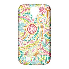 Hippie Flowers Pattern, Pink Blue Green, Zz0101 Samsung Galaxy S4 Classic Hardshell Case (pc+silicone) by Zandiepants