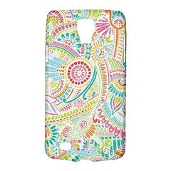 Hippie Flowers Pattern, Pink Blue Green, Zz0101 Samsung Galaxy S4 Active (i9295) Hardshell Case by Zandiepants