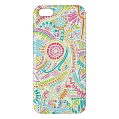 Hippie Flowers Pattern, Pink Blue Green, Zz0101 Iphone 5s/ Se Premium Hardshell Case by Zandiepants