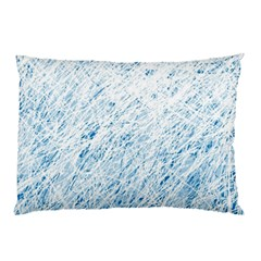 Blue Pattern Pillow Case (two Sides) by Valentinaart