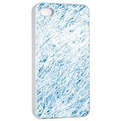 Blue Pattern Apple Iphone 4/4s Seamless Case (white) by Valentinaart
