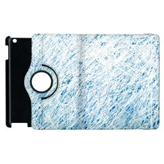 Blue Pattern Apple Ipad 2 Flip 360 Case by Valentinaart
