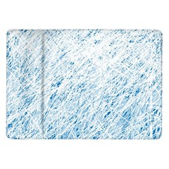 Blue Pattern Samsung Galaxy Tab 10 1  P7500 Flip Case by Valentinaart