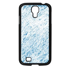 Blue Pattern Samsung Galaxy S4 I9500/ I9505 Case (black) by Valentinaart