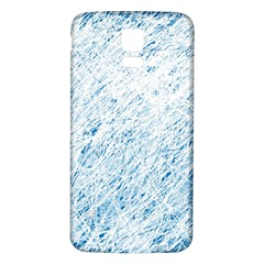 Blue Pattern Samsung Galaxy S5 Back Case (white) by Valentinaart
