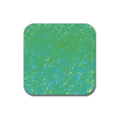 Green Pattern Rubber Coaster (square)  by Valentinaart