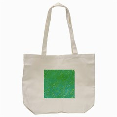 Green Pattern Tote Bag (cream) by Valentinaart