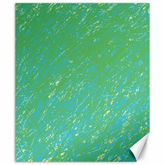 Green Pattern Canvas 20  X 24   by Valentinaart