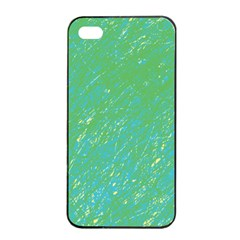 Green Pattern Apple Iphone 4/4s Seamless Case (black) by Valentinaart
