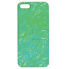 Green Pattern Apple Iphone 5 Hardshell Case With Stand by Valentinaart