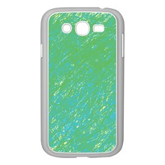 Green Pattern Samsung Galaxy Grand Duos I9082 Case (white) by Valentinaart