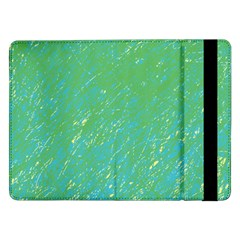 Green Pattern Samsung Galaxy Tab Pro 12 2  Flip Case by Valentinaart