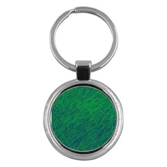 Deep Green Pattern Key Chains (round)  by Valentinaart