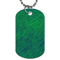 Deep Green Pattern Dog Tag (two Sides) by Valentinaart