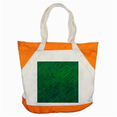 Deep Green Pattern Accent Tote Bag by Valentinaart