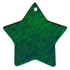 Deep Green Pattern Star Ornament (two Sides)  by Valentinaart
