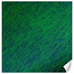 Deep Green Pattern Canvas 16  X 16   by Valentinaart