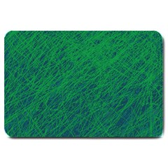 Deep Green Pattern Large Doormat