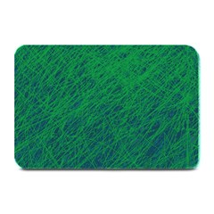 Deep Green Pattern Plate Mats by Valentinaart