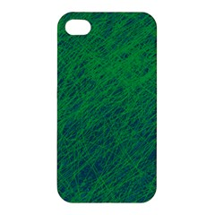 Deep Green Pattern Apple Iphone 4/4s Premium Hardshell Case by Valentinaart