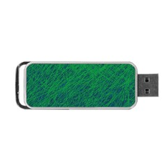 Deep Green Pattern Portable Usb Flash (one Side) by Valentinaart